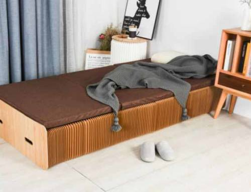 Un letto di carta da aprire in caso di necessità