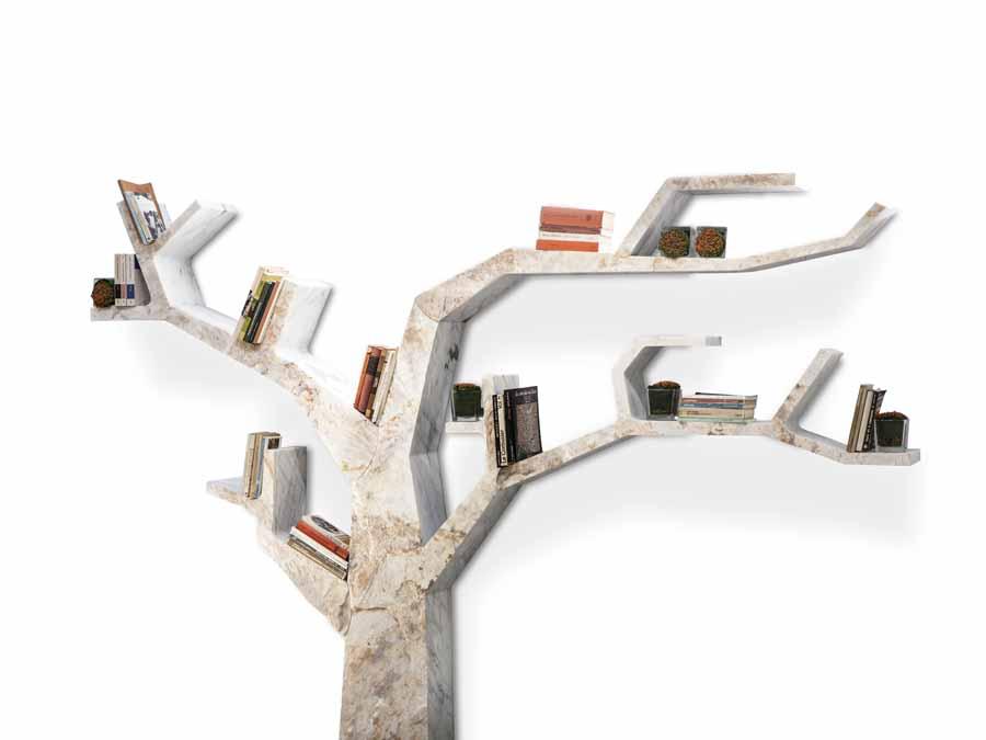 libreria in marmo