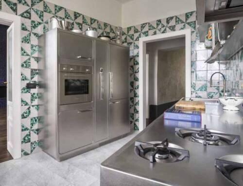 Una cucina Abimis affacciata sul Vesuvio
